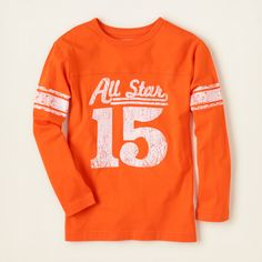 boy - long sleeve tops - sporty graphic tee | Children's Clothing | Kids Clothes | The Children's Place $12.95