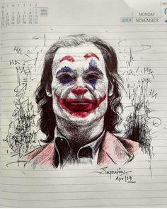 Joker Sketch, Joker Drawings, Joker Images, Joker Pics, Der Joker, Joker Art, Foto Joker, Joaquin Phoenix, Joker Poster