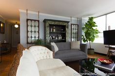 Eclectic Chicago Living Room - Interior Design Chicago - Design Inside