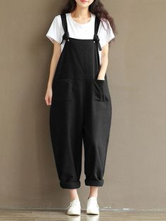 Hot-sale  Casual Solid Strap Pocket Jumpsuit Trousers Overalls For Women  - NewChic Mobile.