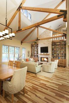Great Room - contemporary - living room - austin - Heimsath Architects