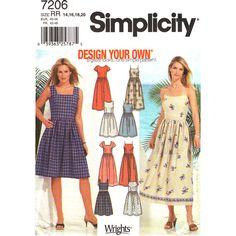 Womens Dress Pattern Simplicity 7206 Casual by finickypatternshop