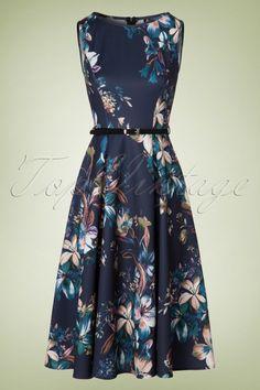 Hepburn Lily Swing Dress in Navy Swing Dress, Dress Skirt, Blue Dresses, Summer Dresses, Church Outfits, Lady V, Stylish Girl, Classic Style, Designer Dresses