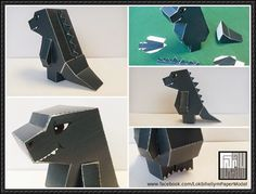 Cute Godzilla Free Paper Toy Download - http://www.papercraftsquare.com/cute-godzilla-free-paper-toy-download.html