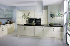 Crown's high gloss Bonito kitchen in Oyster