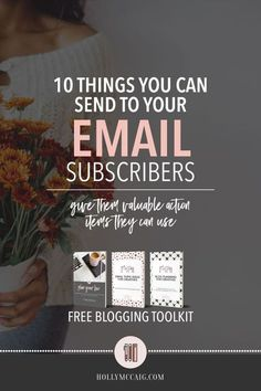 10 things to send your email subscribers. So, you have an email list, now what? What the heck do you send to them? It can be scary. I mean, who wants anyone to unsubscribe? Truth of the matter is, it's no biggy! If you are sending valuable information tha