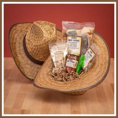 This Arizona Cowboy gift basket is the perfect small basket with a little taste of everything wrapped up in a woven straw cowboy hat. Mix of snack foods like chips and salsa and roasted nuts. Corporate Gift Baskets, Corporate Gifts, Cowgirl Baby, Themed Gift Baskets, Auction Baskets, Chips And Salsa, Western Theme, Tortilla Chips, Jelly Beans