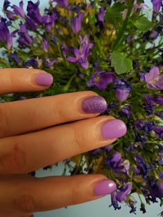 #purplenails  #solargel #nails