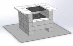 Cinder block grill Backyard grill I designed, hoping to build soon