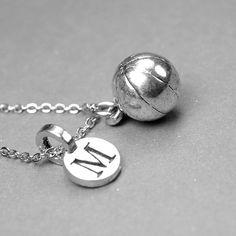 Basketball Necklace 3D Basketball charm by chrysdesignsjewelry, $18.00