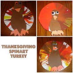 Spin Art Turkey Thanksgiving craft