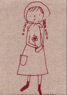 japanese fabric girl print