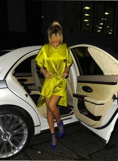Rihanna with a Maybach