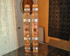 Wine Rack Five Bottle From Napa Valley Red Wine Barrel Staves