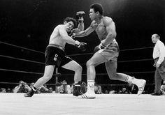 """<b>Muhammad Ali vs Oscar Bonavena at Madison Square Garden, New York City, 1970</b> <br><br> <b>Dustin Hoffman:</b> """"In December 1970, I met him before his fight with Oscar Bonavena at Madison Square Garden. I think it was pretty soon after he was allowed to fight again after being suspended for not going into service— which, I think was a huge statement. I remember in an interview with Muhammad Ali, in 1969, after he refused to fight in the Vietnam War, Ali said, 'I ain't got no quarrel…"""