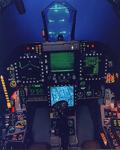 Evolution of cockpits in American fighter jets Photos) Airplane Fighter, Fighter Aircraft, Jet Fighter Pilot, Fighter Jets, Military Jets, Military Aircraft, F 16 Cockpit, Avion Jet, Flight Simulator Cockpit