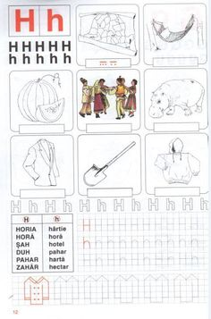 fise clasa pregatitoare Alphabet Writing, Learning The Alphabet, Alphabet Activities, Educational Activities, Kids Learning, Letters And Numbers, Kindergarten, Projects To Try, Doodles
