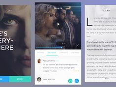 "via Muzli. ""Movie/Cinema UI Inspiration"" is published by Muzli in Muzli - Design Inspiration. User Interface Design, Ui Ux Design, New Boyfriend, Ui Inspiration, 25 Years Old, Cinema, How To Remove, Digital, Instagram Posts"