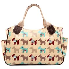 Casual women man handbags party Totes matching colour bag dog print  handbags famous brand bag oilcloth material