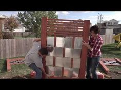 Lowe's Creative Ideas: Building an Outdoor Privacy Screen - YouTube