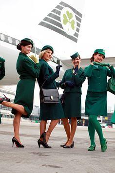 Vintage Aer Lingus cabin crew uniforms circa 1945