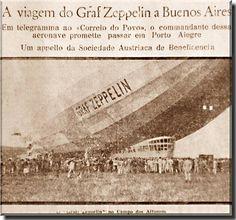 Notícia de jornal anunciando o voo para Buenos Aires