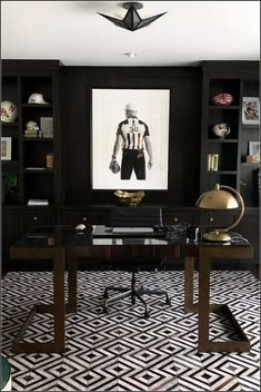 Home Office Decor Inspiration is very important for your home. Whether you choose the Modern Office Design Home or Modern Home Office Design, you will create the best Office Interior Design Ideas Wall Decor for your own life. Office Rug, Home Office Space, Home Office Furniture, Home Office Decor, Office Ideas, Ikea Office, Office For Men, Black Office, Office Inspo