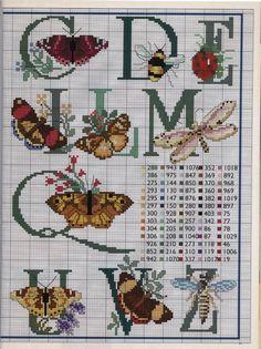 Letras, borboletas e afinsss...