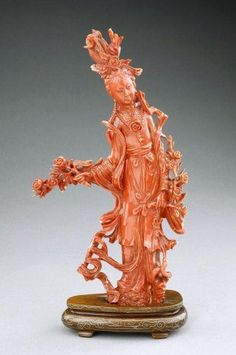 artingstall.com CHINESE CARVED CORAL OF A BEAUTY
