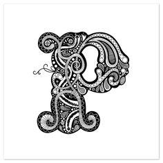 art prints - Whimsical P by Jennifer Pace