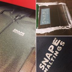 A couple from Snape Maltings, zip up hoodie and tee. Screen printed in white. #screenprinting #tshirts #hoodies #snapemaltings