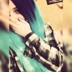 #me #bluehair