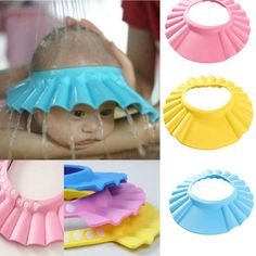 Adjustable Baby Kids Shampoo Bath Bathing Shower Cap Hat Wash Hair Eye Shield  #UnbrandedGenenic
