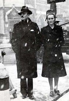 Diana with her husband Sir Oswald Mosley l