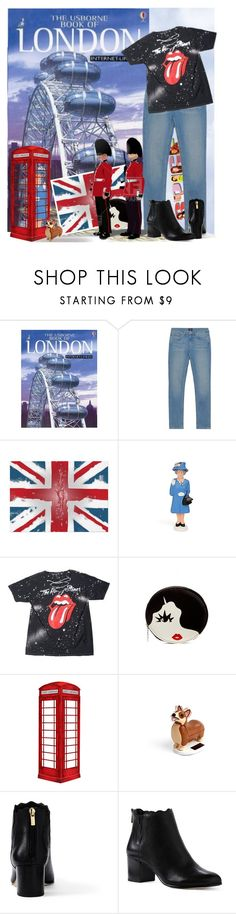 """""""LONDON"""" by bb60477 ❤ liked on Polyvore featuring GANT, Lulu Guinness, jcp, Corgi and Lands' End"""
