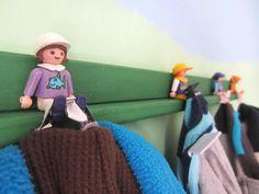 Playmobil hack: little people into coat hook