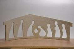 Cutout Nativity Figures - Large by DowntoEarthenware on Etsy