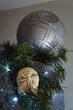 Diy Christmas tree death Star / Star wars / estrella de la muerte para pino de Navidad