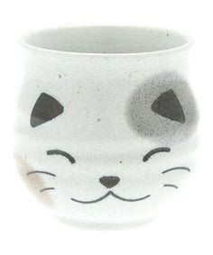 Look at this #zulilyfind! White Calico Cat Teacup #zulilyfinds