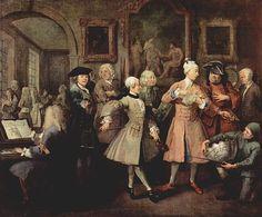 William Hogarth A Rakes Progress The Leveè