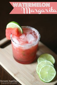 Watermelon Margaritas the Perfect Summer Cocktail
