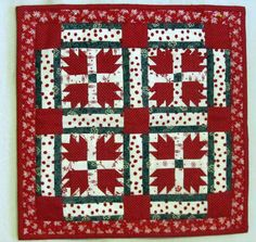 Miniature Bear's Paw Quilt    I have got to make one of these when we get our house.