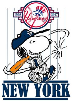 YANKEES Snoopy Love, Charlie Brown And Snoopy, Snoopy And Woodstock, Yankees Logo, New York Yankees Baseball, Ny Yankees, Yankees Baby, Snoopy Pictures, Snoopy Quotes