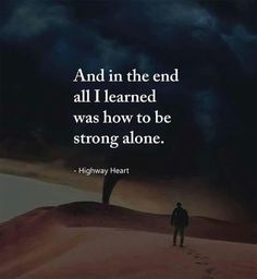 I am all alone