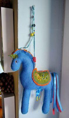 horse made of felt