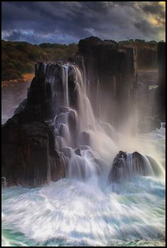 Boneyard Falls - by Peter Hill Bombo Headland, Australia