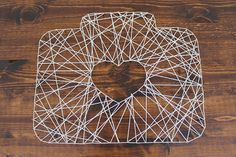 DIY string art for your wedding day decor: Wedding Party style!