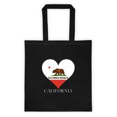 California Heart State Flag Tote