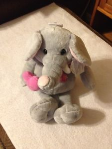 13 In. Valentine's Stuffed Elephant (New)