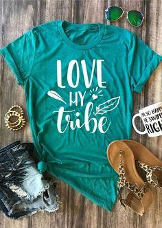 954719d5 Fashion Women T-Shirt Short Sleeve Love My Tribe O-Neck T-Shirt Female  Casual Green t shirt 2018 Summer Ladies Tops Tee